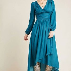 New Anthropologie Gwendolyn Maxi Dress Turquoise
